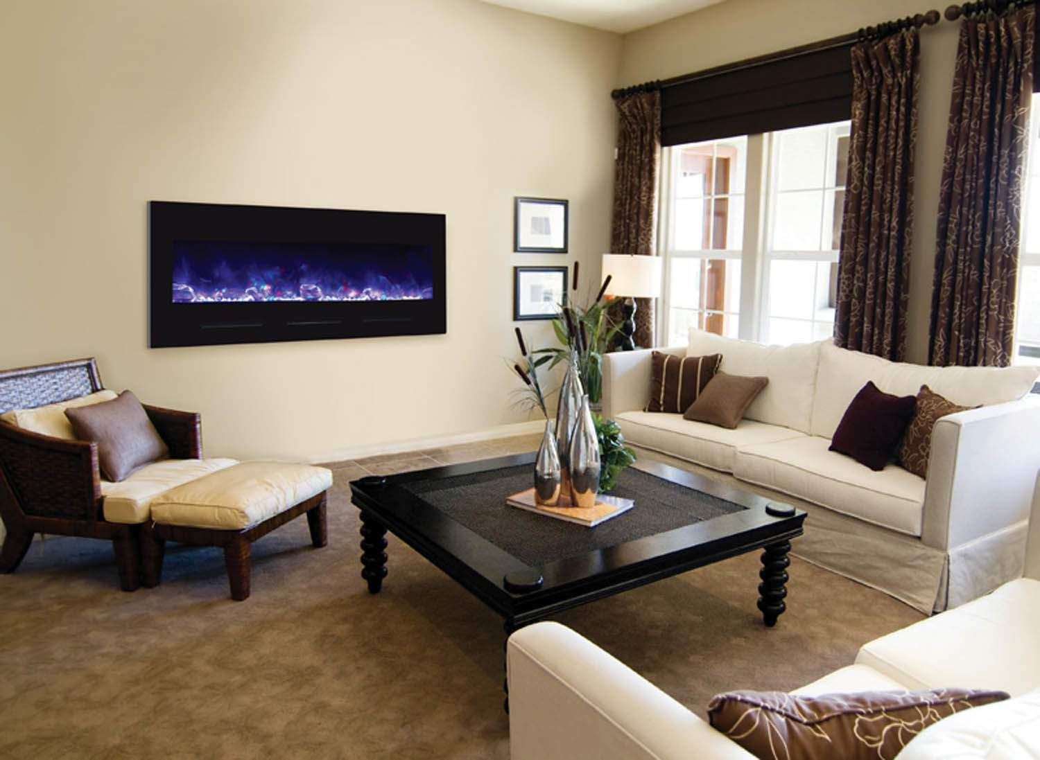 This Stunning Marvel Of Electric Fireplace Technology Will Dazzle The Eyes  And Warm Your Room With Its Heater.