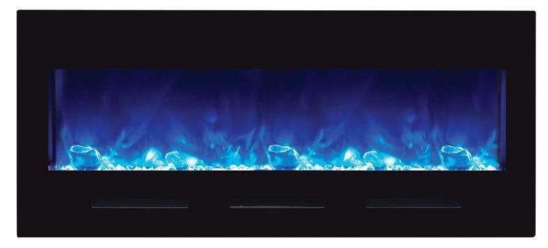 Amantii Bi Fl 50 Flushmt Blkgls 50 Inch Electric Fireplace