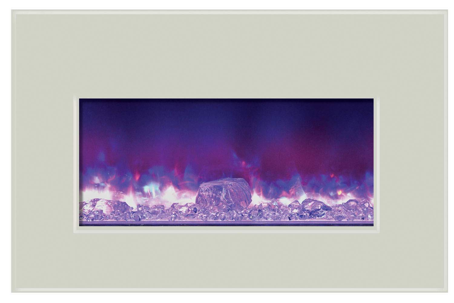 amantii insert 30 4026 whtgls electric fireplace insert with white