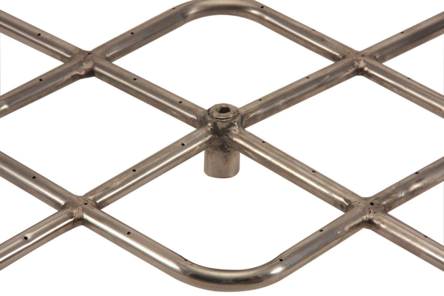Square natural gas fire pit burner 18x18 inch new ebay for Square fire ring