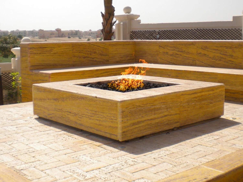 Square Propane Gas Fire Pit Burner 24x24 Inch New Ebay