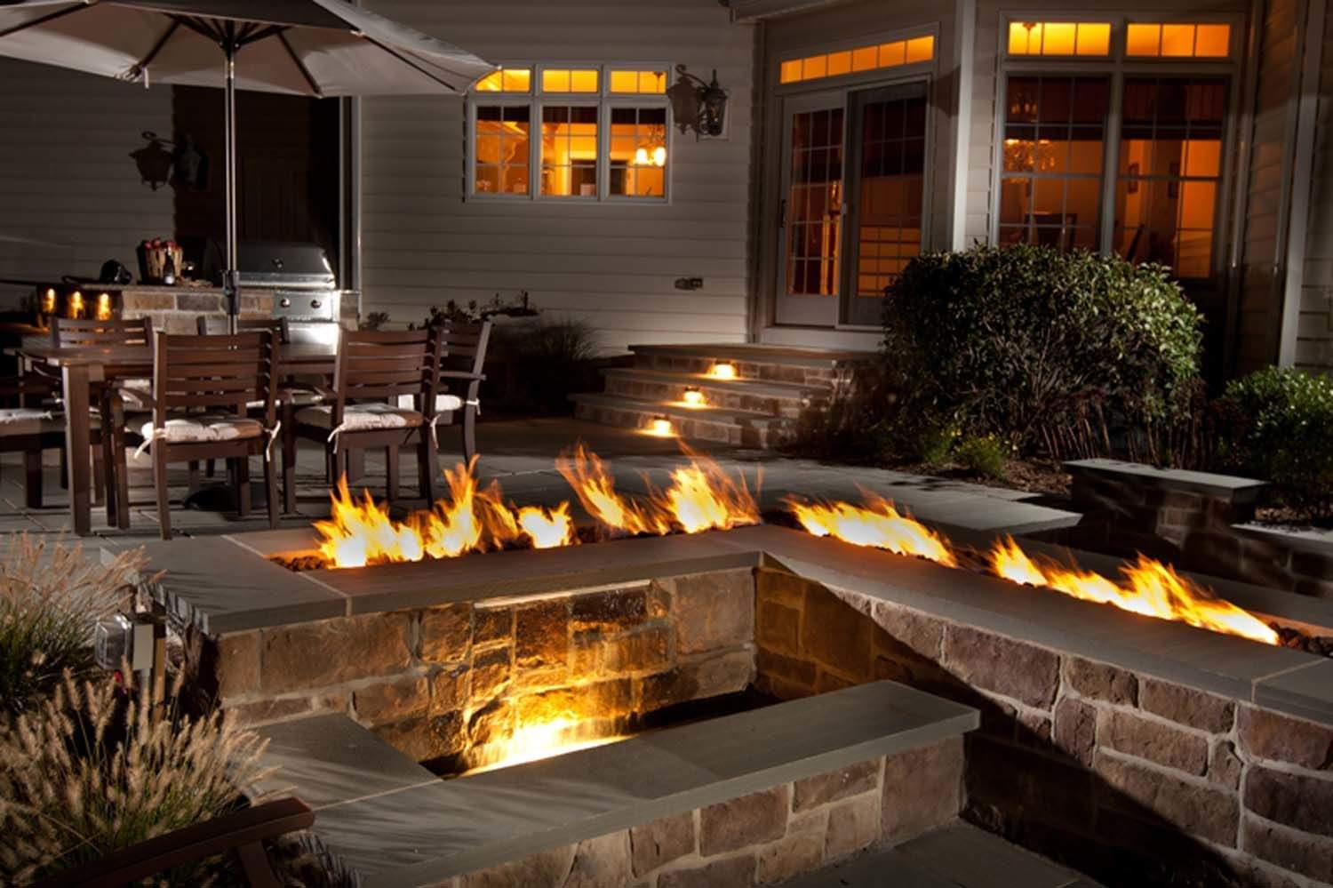 Linear Trough Natural Gas Fire Pit Burner 72 Inch New