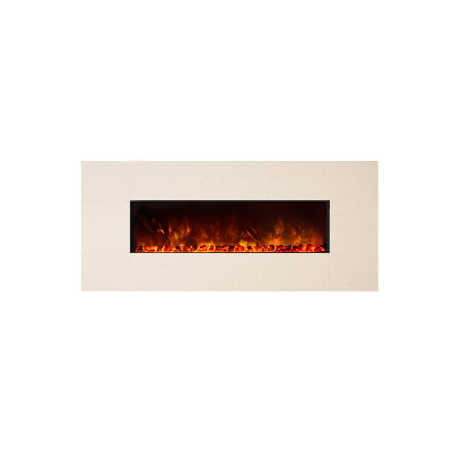 Modern Flames Clx Series Wall Mount Built In Electric Fireplace With White Limes Ebay