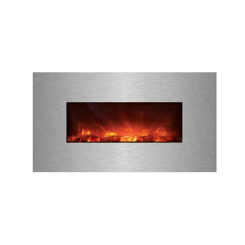 Modern Flames Clx Series Wall Mount Built In Electric Fireplace With Stainless S Ebay