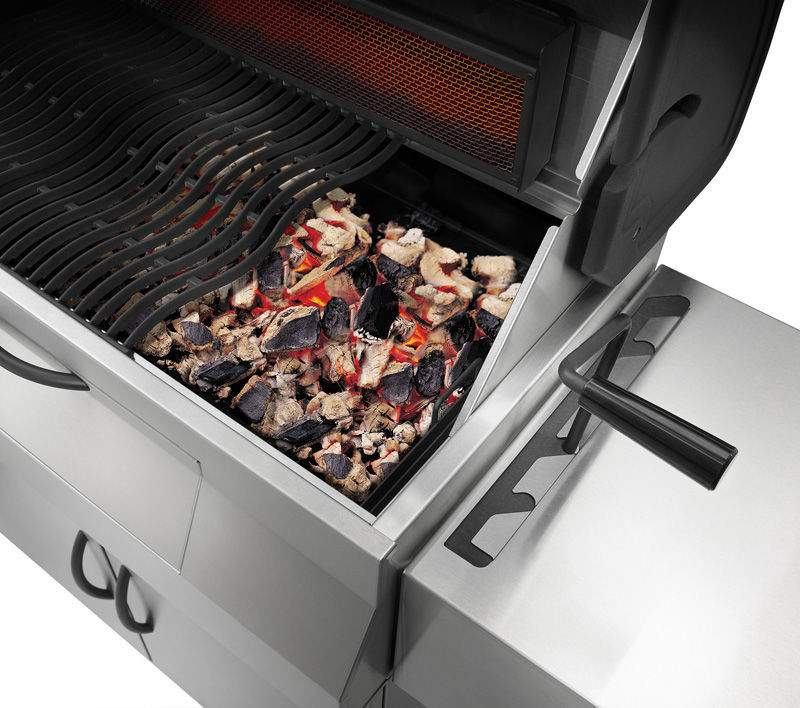 shop napoleon pro605css professional charcoal grill on cart. Black Bedroom Furniture Sets. Home Design Ideas