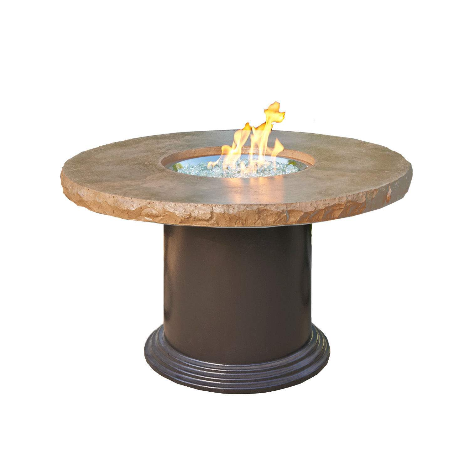 outdoor greatroom colonial dining height fire pit table mocha new ebay. Black Bedroom Furniture Sets. Home Design Ideas