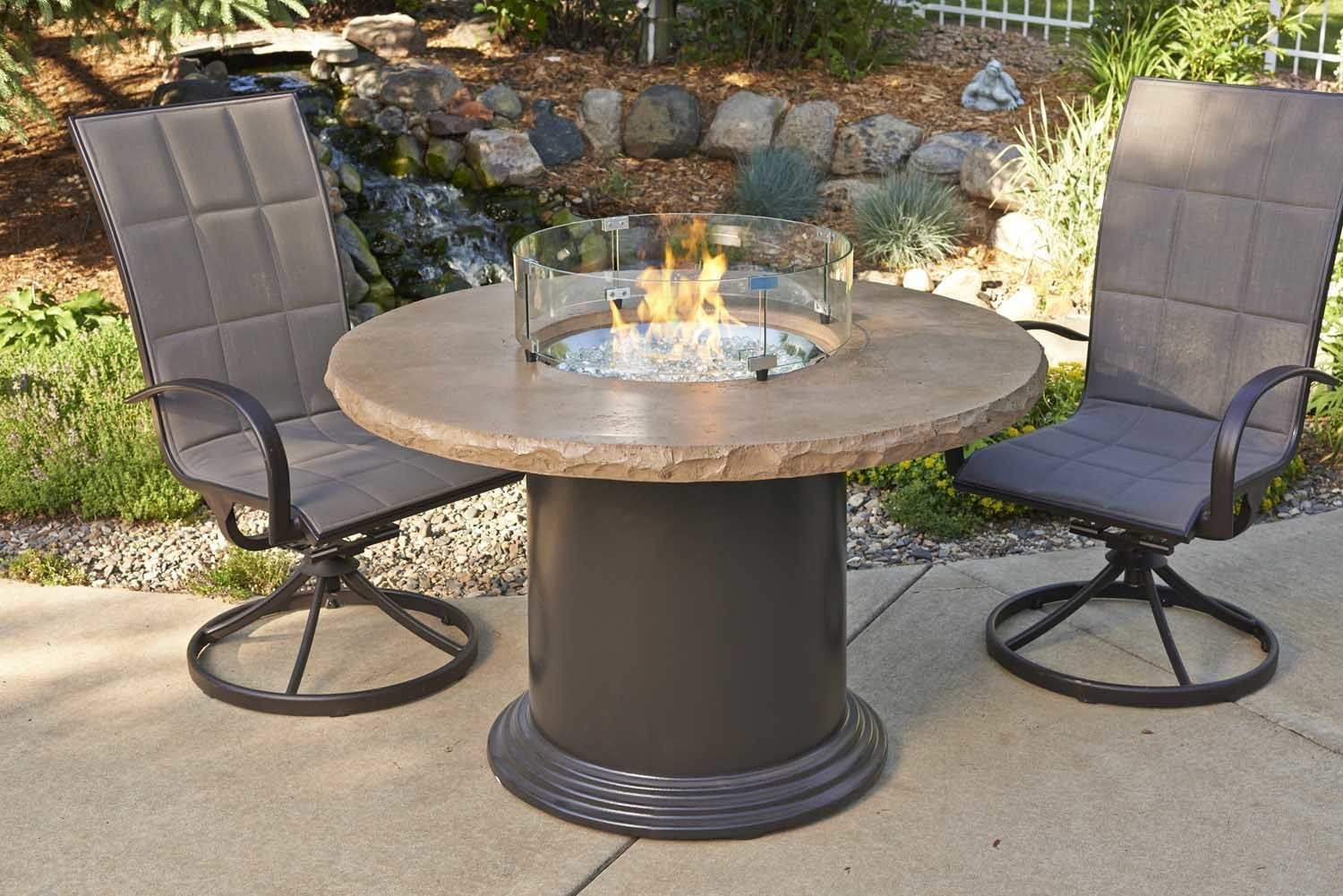 Outdoor Greatroom Colonial Dining Height Fire Pit Table ...