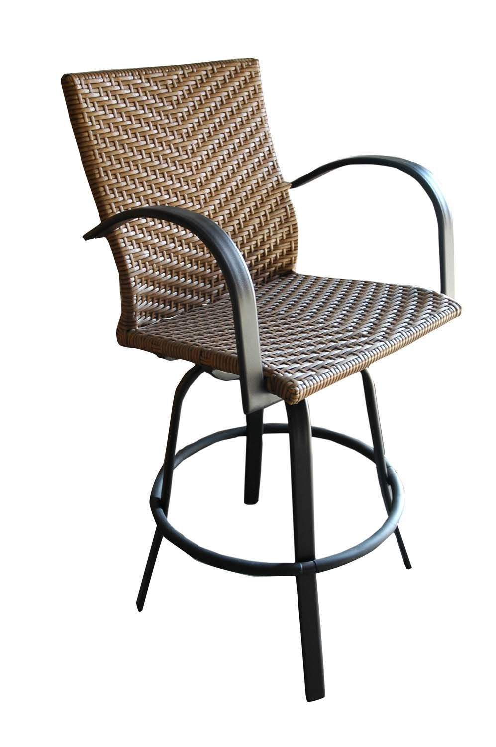 Outdoor Greatroom Naples Swivel Bar Stools, Set of 2, New eBay