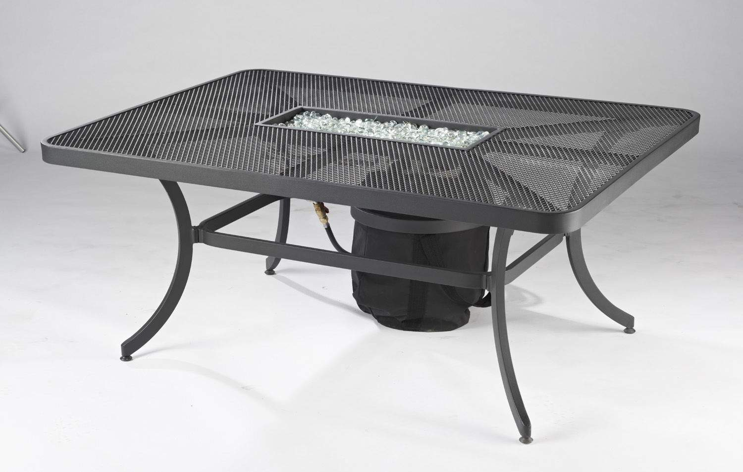 Outdoor Greatroom Company Nightfire Mesh Fire Table Rectangular New Ebay