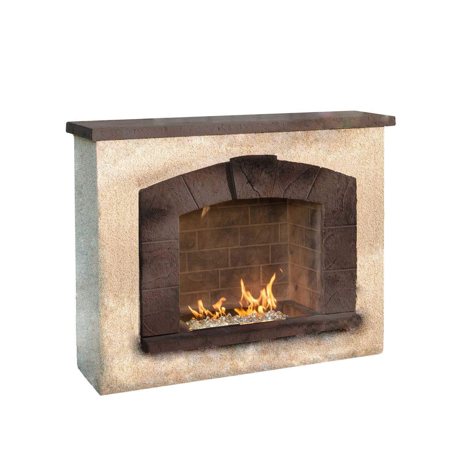 Outdoor Greatroom Stone Arch Outdoor Gas Fireplace New Ebay