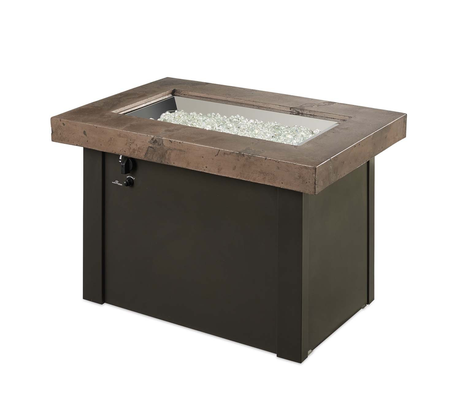 Outdoor Greatroom Providence Gas Fire Pit Table Noche Top
