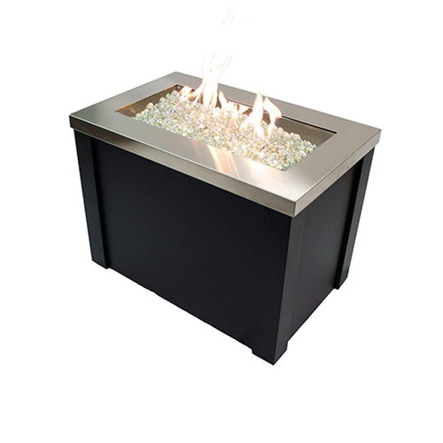 Outdoor Greatroom Providence Gas Fire Pit Table Stainless Steel New EBay