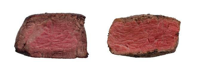 Traditionally cooked steak vs. Sous Vide Steak